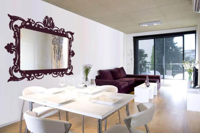 Vinilos loft espejo horizontal for Espejo horizontal salon