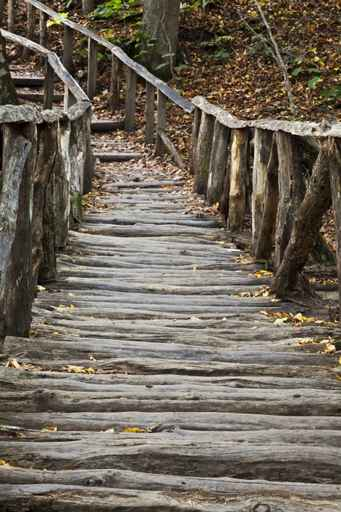 Murales paisajes puente de madera - Murales de madera ...