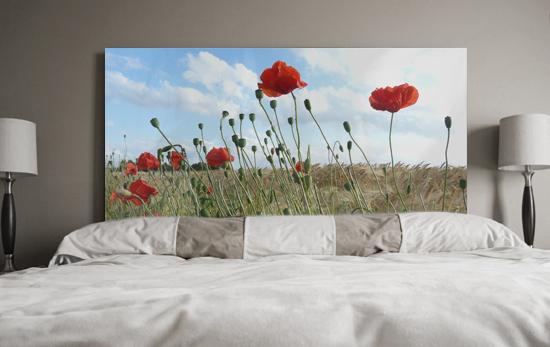 Cuadros flores floral campo de amapolas rojas for Cuadros para cabeceros de cama